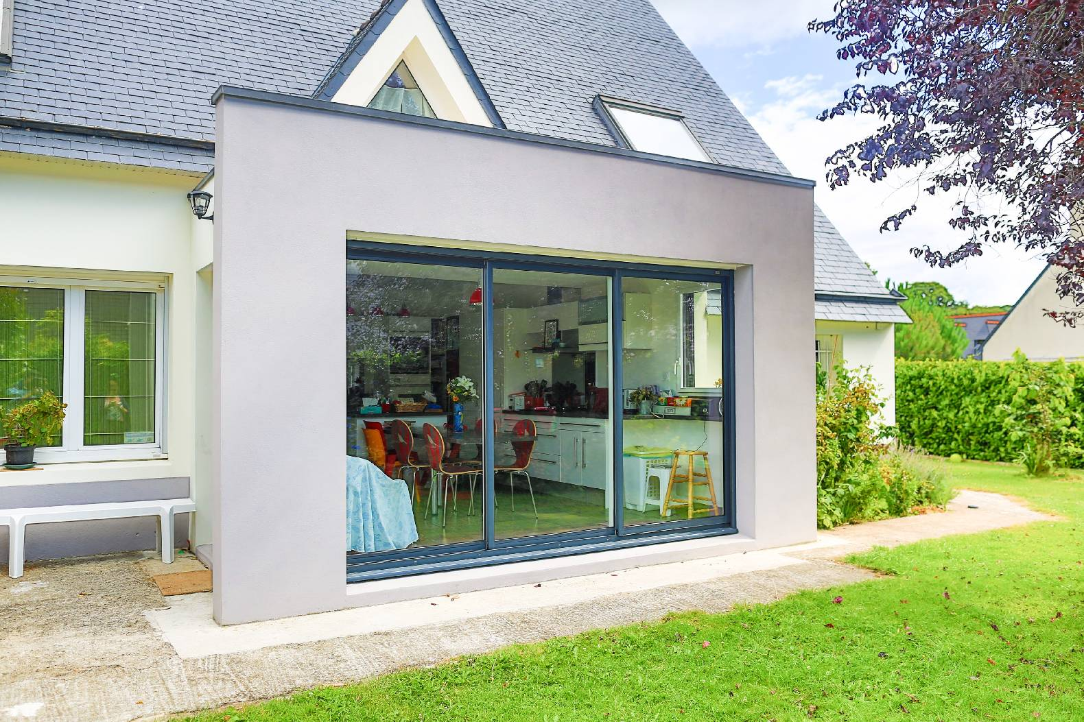 Extension et r novation d 39 une maison de ville concarneau for Cuisine extension
