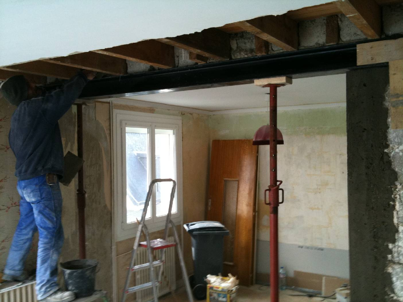 R habilitation et extension d 39 une maison sur plan d for Extension architecte