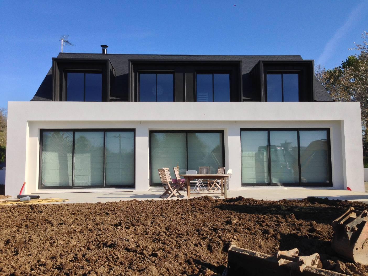 Agrandissement Maison Néo Bretonne extension d'une maison néo bretonne - goalabre construction